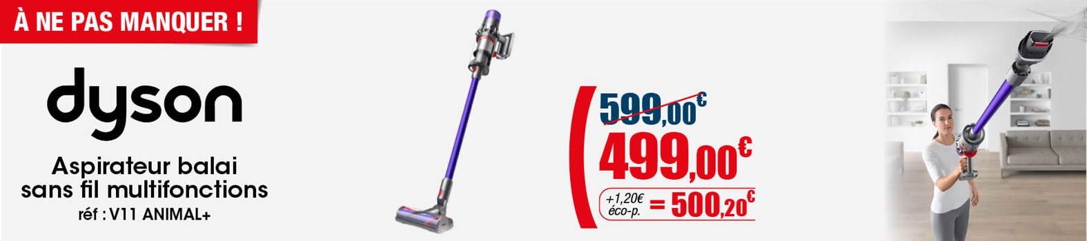 Aspirateur balai 2 en 1 Dyson V11 ANIMAL+